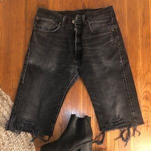 Vintage Levi's denim Bermuda shorts
